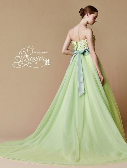 カラードレス グリーン2
