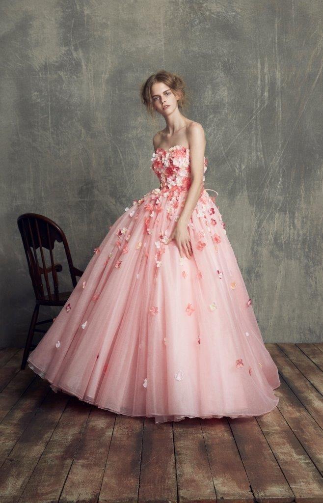 カラードレス ピンク1
